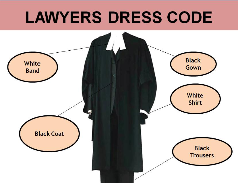 why lawyers wear black coat