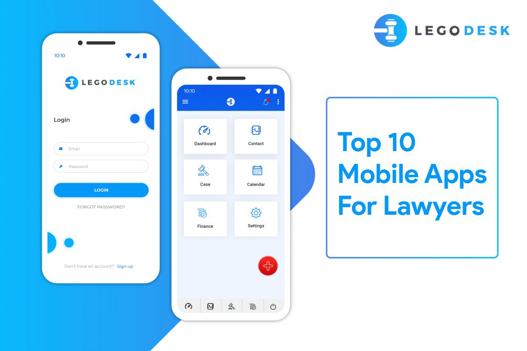 Mobile application for lawyers