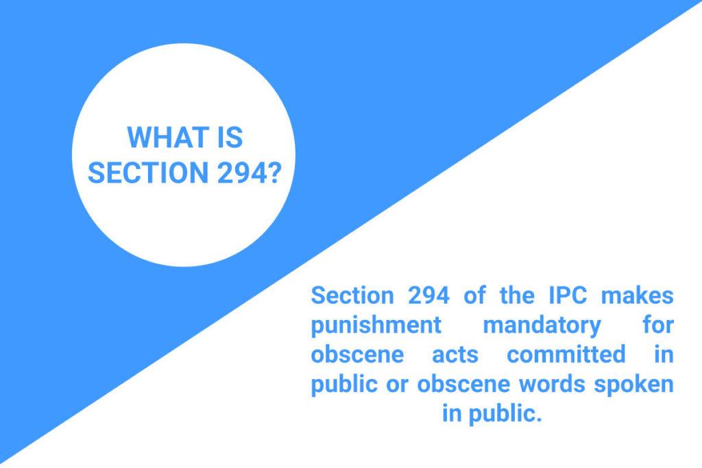 section 294 ipc