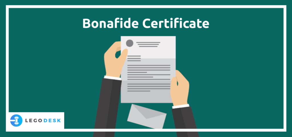Bonafide certificate meaning
