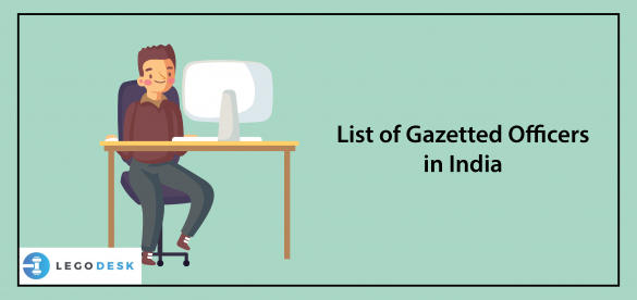 List of Gazetted Officers in India